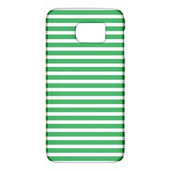 Horizontal Stripes Green Galaxy S6 by Mariart