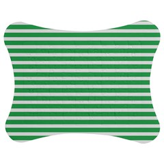 Horizontal Stripes Green Jigsaw Puzzle Photo Stand (bow) by Mariart