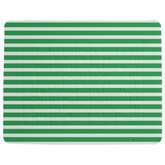 Horizontal Stripes Green Jigsaw Puzzle Photo Stand (rectangular) by Mariart