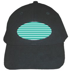 Horizontal Stripes Green Teal Black Cap by Mariart