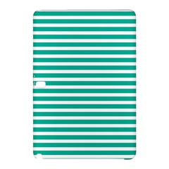 Horizontal Stripes Green Teal Samsung Galaxy Tab Pro 10 1 Hardshell Case by Mariart