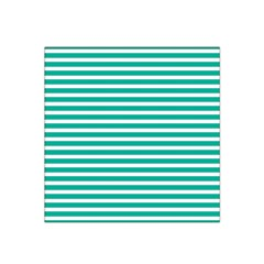 Horizontal Stripes Green Teal Satin Bandana Scarf by Mariart