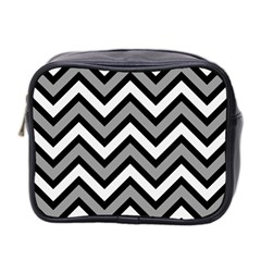 Zig Zags Pattern Mini Toiletries Bag 2 Side by Valentinaart