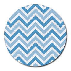 Zig Zags Pattern Round Mousepads by Valentinaart