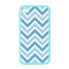 Zig Zags Pattern Apple Iphone 4 Case (color)