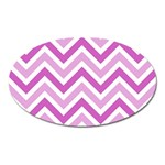 Zig zags pattern Oval Magnet Front