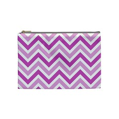 Zig Zags Pattern Cosmetic Bag (medium)