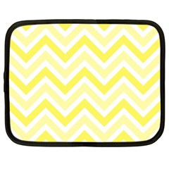 Zig Zags Pattern Netbook Case (large) by Valentinaart