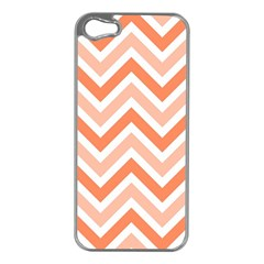 Zig Zags Pattern Apple Iphone 5 Case (silver) by Valentinaart