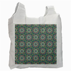 Decorative Ornamental Geometric Pattern Recycle Bag (two Side)