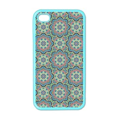 Decorative Ornamental Geometric Pattern Apple Iphone 4 Case (color) by TastefulDesigns