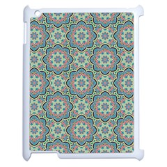 Decorative Ornamental Geometric Pattern Apple Ipad 2 Case (white) by TastefulDesigns