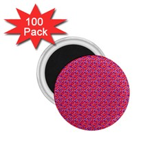 Red White And Blue Leopard Print  1 75  Magnets (100 Pack)  by PhotoNOLA
