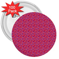 Red White And Blue Leopard Print  3  Buttons (100 Pack)  by PhotoNOLA