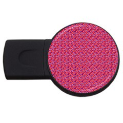 Red White And Blue Leopard Print  Usb Flash Drive Round (4 Gb) by PhotoNOLA