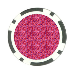 Red White And Blue Leopard Print  Poker Chip Card Guard (10 Pack) by PhotoNOLA