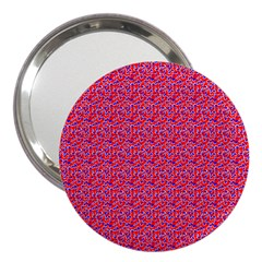 Red White And Blue Leopard Print  3  Handbag Mirrors by PhotoNOLA