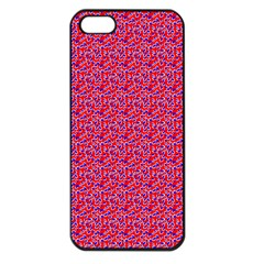 Red White And Blue Leopard Print  Apple Iphone 5 Seamless Case (black) by PhotoNOLA