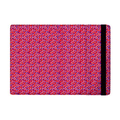 Red White And Blue Leopard Print  Apple Ipad Mini Flip Case by PhotoNOLA