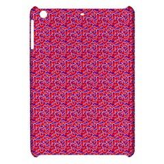Red White And Blue Leopard Print  Apple Ipad Mini Hardshell Case by PhotoNOLA