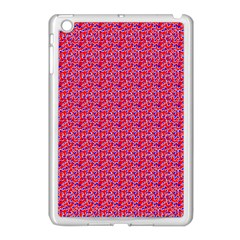 Red White And Blue Leopard Print  Apple Ipad Mini Case (white) by PhotoNOLA