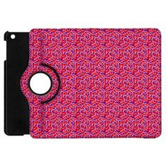 Red White And Blue Leopard Print  Apple Ipad Mini Flip 360 Case by PhotoNOLA