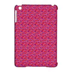 Red White And Blue Leopard Print  Apple Ipad Mini Hardshell Case (compatible With Smart Cover) by PhotoNOLA