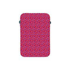 Red White And Blue Leopard Print  Apple Ipad Mini Protective Soft Cases by PhotoNOLA