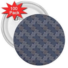 Decorative Ornamental Geometric Pattern 3  Buttons (100 Pack)