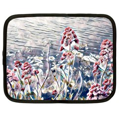 Port Flowers Netbook Case (large) by DeneWestUK