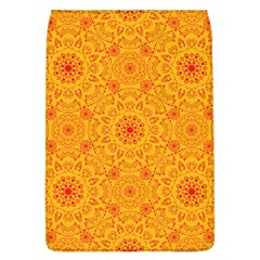 Solar Mandala  Orange Rangoli  Removable Flap Cover (l) by bunart