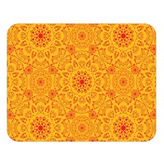Solar Mandala  Orange Rangoli  Double Sided Flano Blanket (large) by bunart