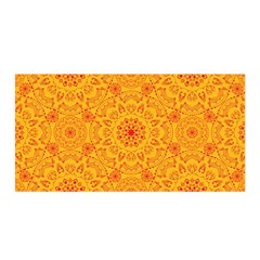 Solar Mandala  Orange Rangoli  Satin Wrap