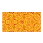 Solar mandala. Orange rangoli. Satin Wrap Front