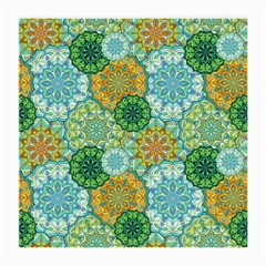 Forest Spirits  Green Mandalas  Medium Glasses Cloth by bunart