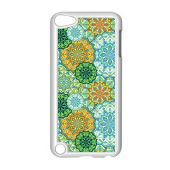 Forest Spirits  Green Mandalas  Apple Ipod Touch 5 Case (white) by bunart