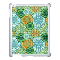 Forest Spirits  Green Mandalas  Apple Ipad 3/4 Case (white) by bunart