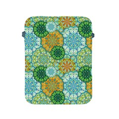 Forest Spirits  Green Mandalas  Apple Ipad 2/3/4 Protective Soft Case by bunart