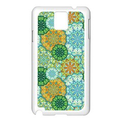 Forest Spirits  Green Mandalas  Samsung Galaxy Note 3 N9005 Case (white) by bunart