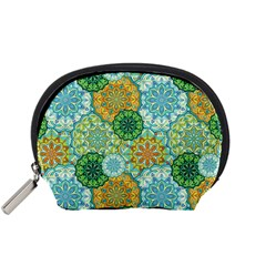 Forest Spirits  Green Mandalas  Accessory Pouch (small) by bunart