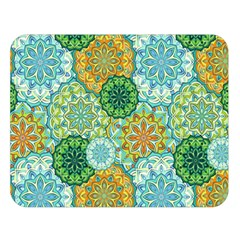 Forest Spirits  Green Mandalas  Double Sided Flano Blanket (large) by bunart