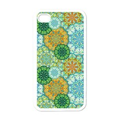 Forest Spirits  Green Mandalas  Apple Iphone 4 Case (white)