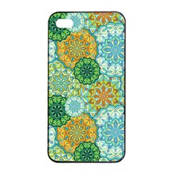 Forest Spirits  Green Mandalas  Apple Iphone 4/4s Seamless Case (black) by bunart