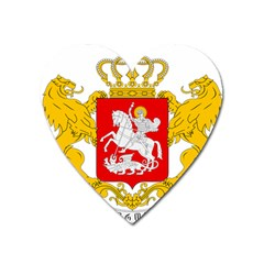 Greater Coat Of Arms Of Georgia Heart Magnet by abbeyz71