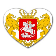 Greater Coat Of Arms Of Georgia  Heart Mousepads by abbeyz71