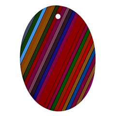 Color Stripes Pattern Ornament (oval) by Simbadda