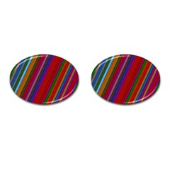 Color Stripes Pattern Cufflinks (oval) by Simbadda