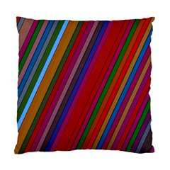 Color Stripes Pattern Standard Cushion Case (one Side) by Simbadda