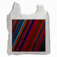 Color Stripes Pattern Recycle Bag (two Side)