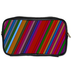 Color Stripes Pattern Toiletries Bags 2 Side by Simbadda